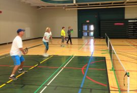 Dave Easton and Carol Heuvelmans Pickleball